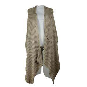 Chicos Women Josie Ribbed Wrap Beige Sweater L/XL